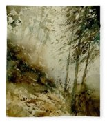 Watercolor Misty Atmosphere  Fleece Blanket