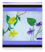 Watercolor Of Wild Flowers Fleece Blanket