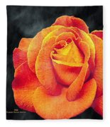 Watercolor Rose Fleece Blanket