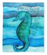 Watercolor Saehorse Fleece Blanket