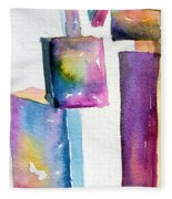 Watercolor Sculpture Fleece Blanket