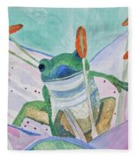Watercolor - Tree Frog Fleece Blanket