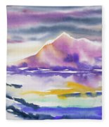 Watercolor - Winter Arctic Impression Fleece Blanket