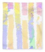 Watercolour Abstract Strips 2 Fleece Blanket