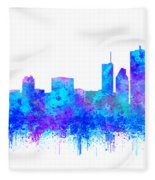 Watercolour Splashes And Dripping Effect Chicago Skyline Fleece Blanket