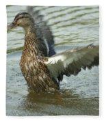 Watercovered Wingflapper Fleece Blanket