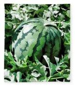 Waterelons In A Vegetable Garden Fleece Blanket