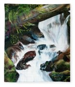 Waterfall 1 Fleece Blanket