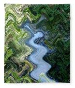 Waterfall Abstract Fleece Blanket