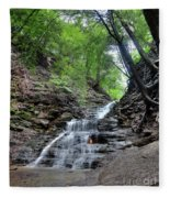 Waterfall And Natural Gas Fleece Blanket