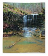 Waterfall At Don Robinson State Park 1 Fleece Blanket