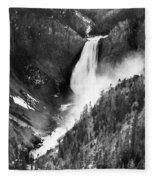 Waterfall, C1900 Fleece Blanket