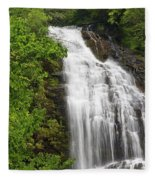 Waterfall Closeup Fleece Blanket