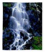 Waterfall Flowing And Ebbing Fleece Blanket
