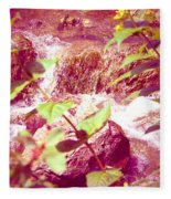 Waterfall Garden Pink Falls Fleece Blanket