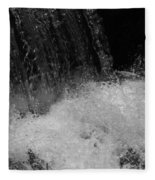 Waterfall In Black And White Fleece Blanket