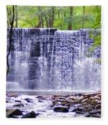 Waterfall In Gladwyne Fleece Blanket
