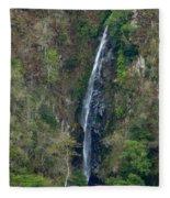 Waterfall In The Intag 2 Fleece Blanket