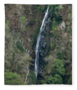 Waterfall In The Intag 3 Fleece Blanket