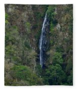 Waterfall In The Intag Fleece Blanket