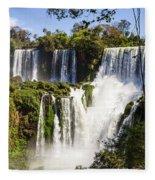 Waterfall In The Jungle Fleece Blanket