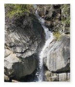Waterfall Into The Feather River Fleece Blanket