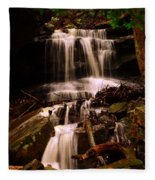 Waterfall Mcconnells Mills State Park Fleece Blanket