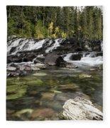 Waterfall Mcdonald Creek Fleece Blanket