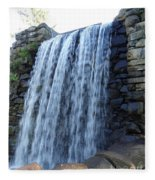 Waterfall Of The Grist Mill Fleece Blanket
