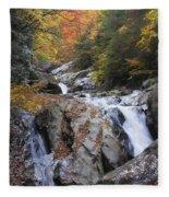 Waterfall Off Blue Ridge Parkway Fleece Blanket