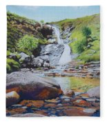 Waterfall On Skye 2 Fleece Blanket