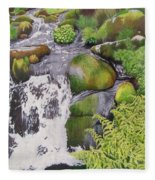 Waterfall On Skye Fleece Blanket