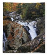 Waterfall On West Fork French Broad River Fleece Blanket