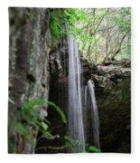 Waterfall Portrait Fleece Blanket