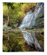 Waterfall Reflections Fleece Blanket