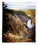Waterfall Yellowstone 2 Fleece Blanket
