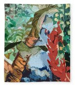 Waterfalling Jungle Fleece Blanket