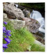 Waterfalls And Bluebells Fleece Blanket