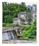 Waterfalls Cornell University Ithaca New York 04 Fleece Blanket