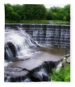 Waterfalls Cornell University Ithaca New York 05 Fleece Blanket