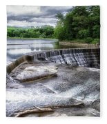 Waterfalls Cornell University Ithaca New York 07 Fleece Blanket