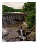 Waterfalls Cornell University Ithaca New York 08 Vertical Fleece Blanket