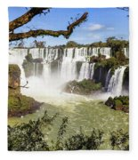 Waterfalls In Frame Fleece Blanket