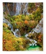 Waterfalls In Plitvice Lakes National Park Fleece Blanket