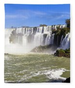 Waterfalls Wall Fleece Blanket