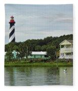 Historic Waterfront Beauty Fleece Blanket