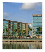 Waterfront Hotel Fleece Blanket