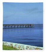 Waterfront Pier Fleece Blanket