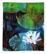 Waterlilies 19 Fleece Blanket