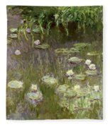 Waterlilies At Midday Fleece Blanket